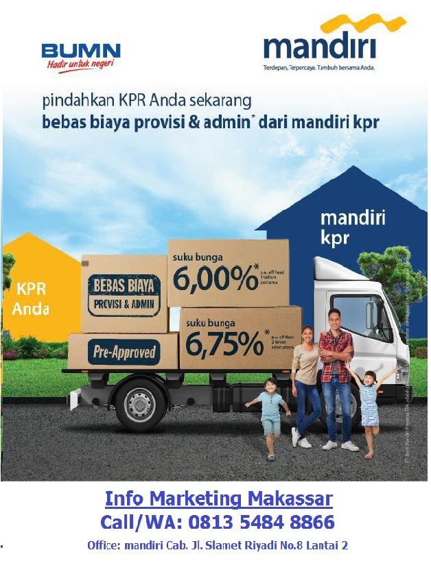 Bunga KPR Take Over mandiri 6%