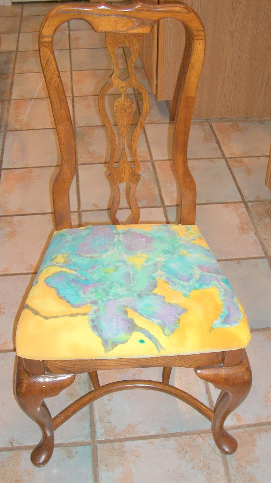 Reupholstering Dining Room Chairs With Painted Silk