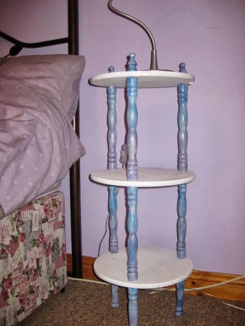 decoupage, bedside table, DIY, handmade