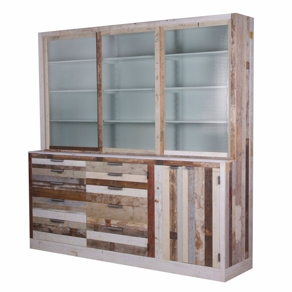 Muebles de madera reciclada hechos a mano for Muebles de madera reciclada para cocina