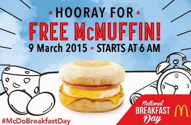 #McDoBreakfastDay, Free McMuffin, National Breakfast Day, McDonalds