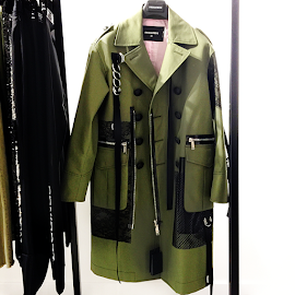 DSQUARED@ Military coat at VMR Boutique.