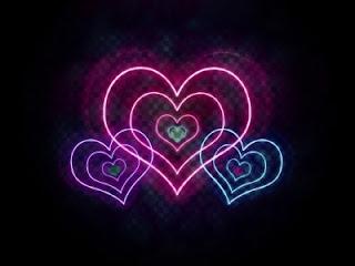 corazones brillantes