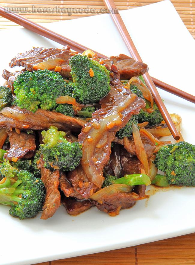 Говядина с брокколи по китайски