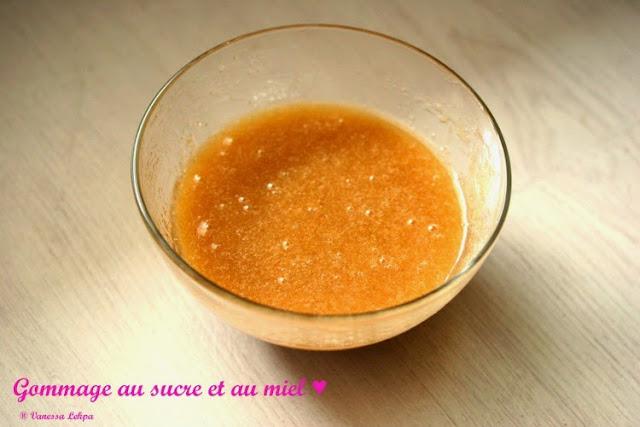recette rapide et facile du gommage au miel bio et au sucre cassonade sucre roux