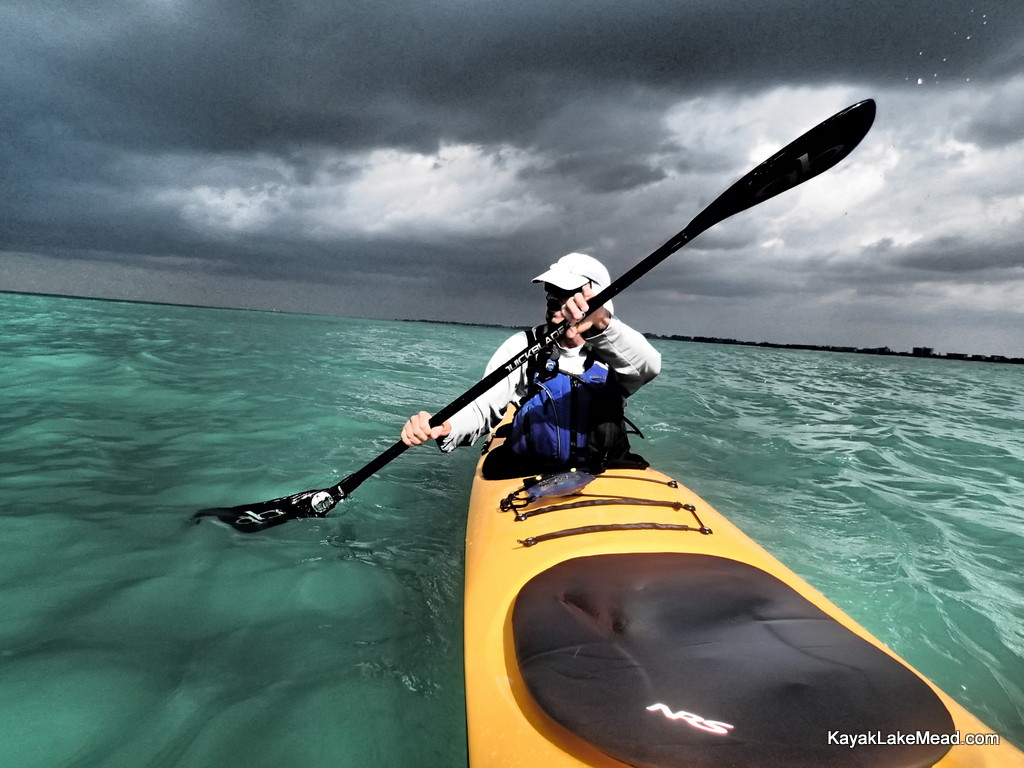 Druce Finlay on the Gulf outside of Anna Maria, Everglades Challenge 2013