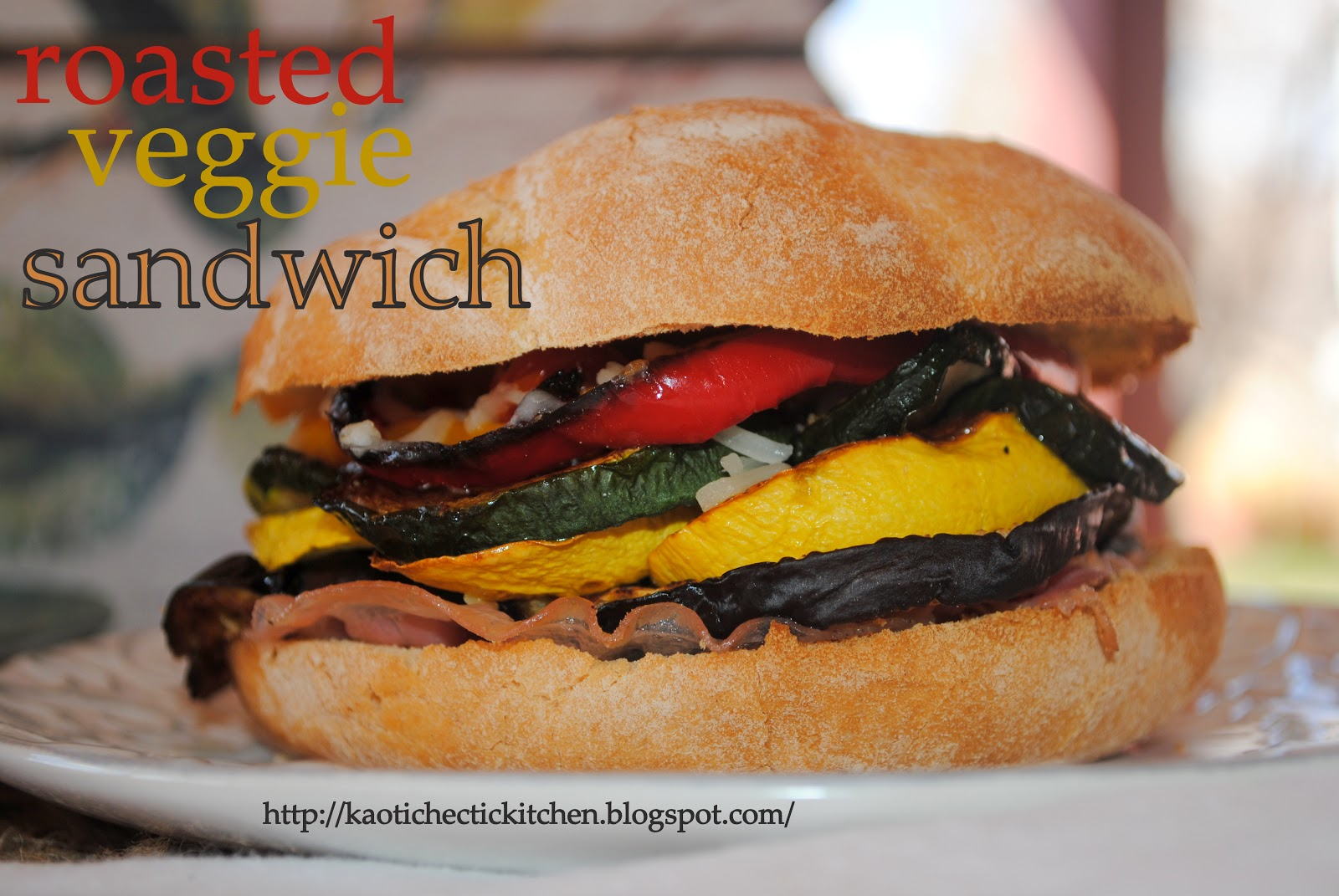 my kaotic kitchen: roasted veggie sandwich with garlic mayo..
