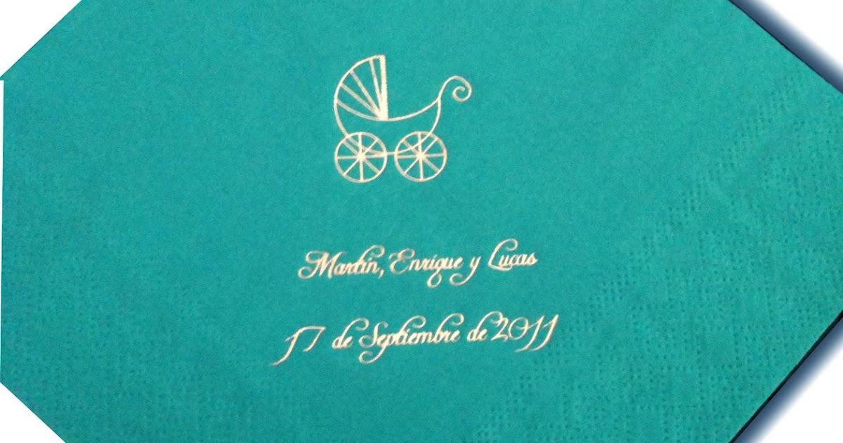 Recuerdos con encanto servilletas personalizadas para todas las ocasiones grabadas con tinta - Servilletas personalizadas ...