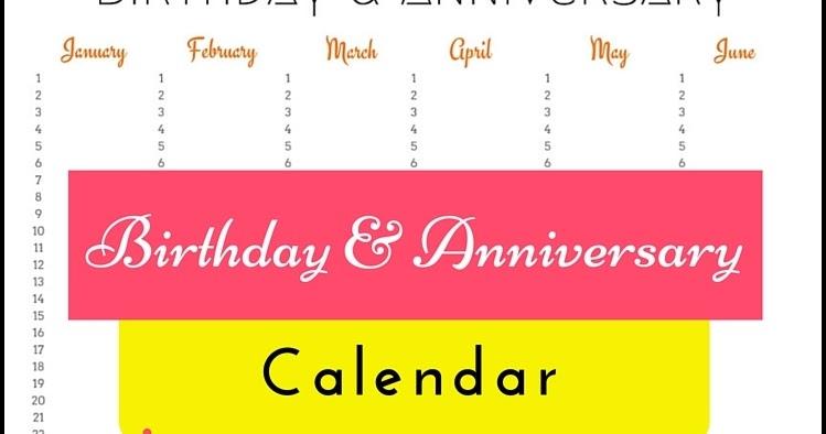 My indian version birthday anniversary calendar free printable saigontimesfo