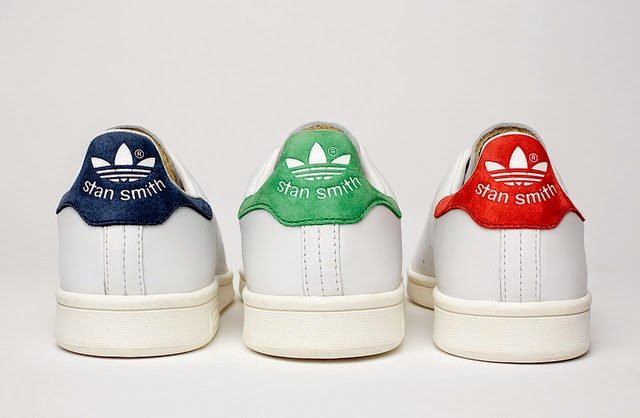 Stan Smiths, Adidas, Blue, Red, Green, Trainer, Sneakers