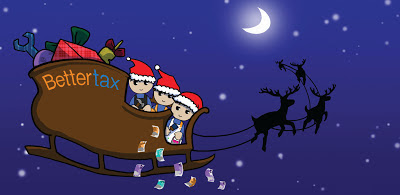 Bettertax tax refunds specialists christmas 2012