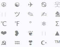 caractères spéciaux et symboles
