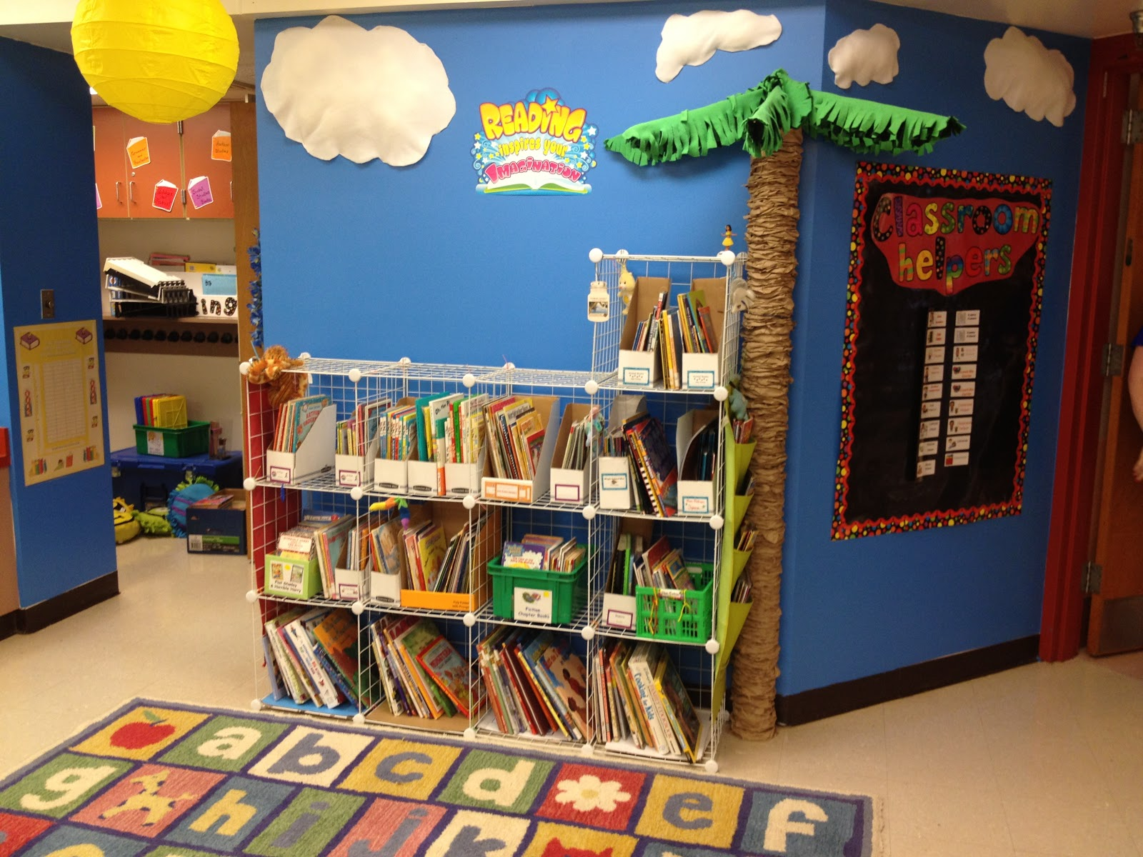 Classroom Library Decorating Ideas ~ First grade spies classroom library organization