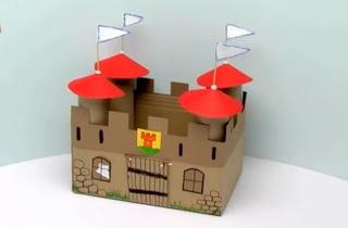 maqueta de castillo acabado