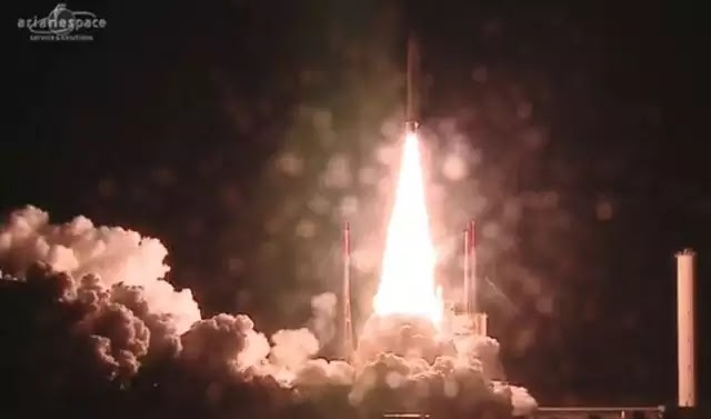 Σε τροχιά ο τηλεπικοινωνιακός δορυφόρος- γολιάθ ViaSat-2 και ο Eutelsat-172B