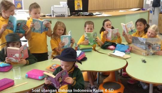Soal Ulangan Bahasa Indonesia Kelas 4 SD/MI Bab 7 Disiplin Semester 2/Genap KTSP