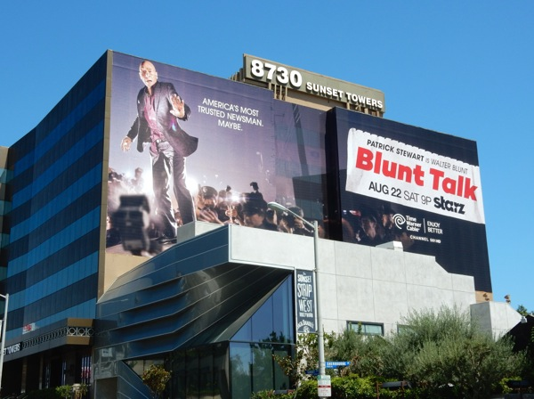 Blunt Talk series premiere billboard