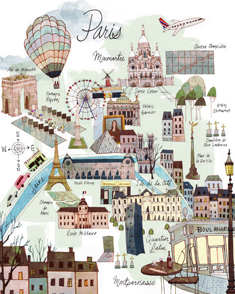 Ilustracion, Paris, Josie Portillo, Illustration