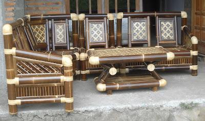 mebel dari bambu, kursi mebel dari bambu, kerajinan bambu