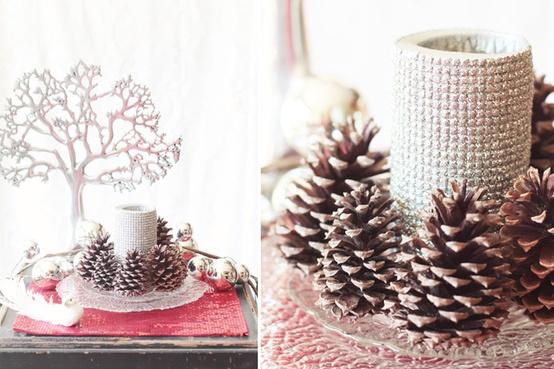 Vivianas Childhood Treasures: Božična dekoracija s storži