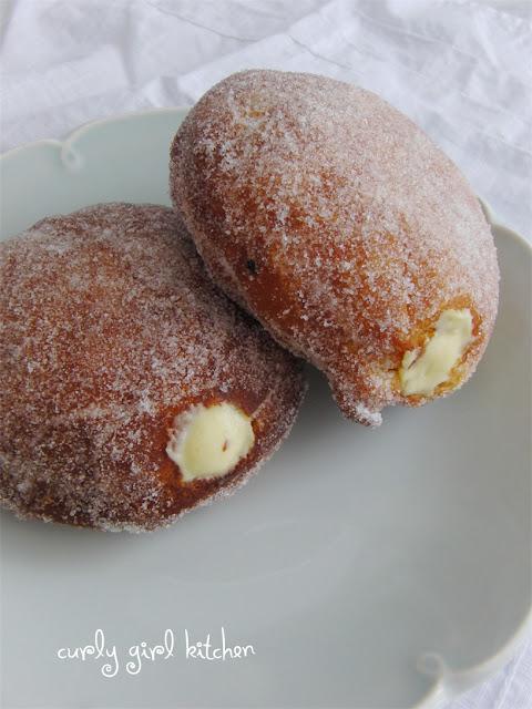 Vanilla Custard Filled Doughnuts