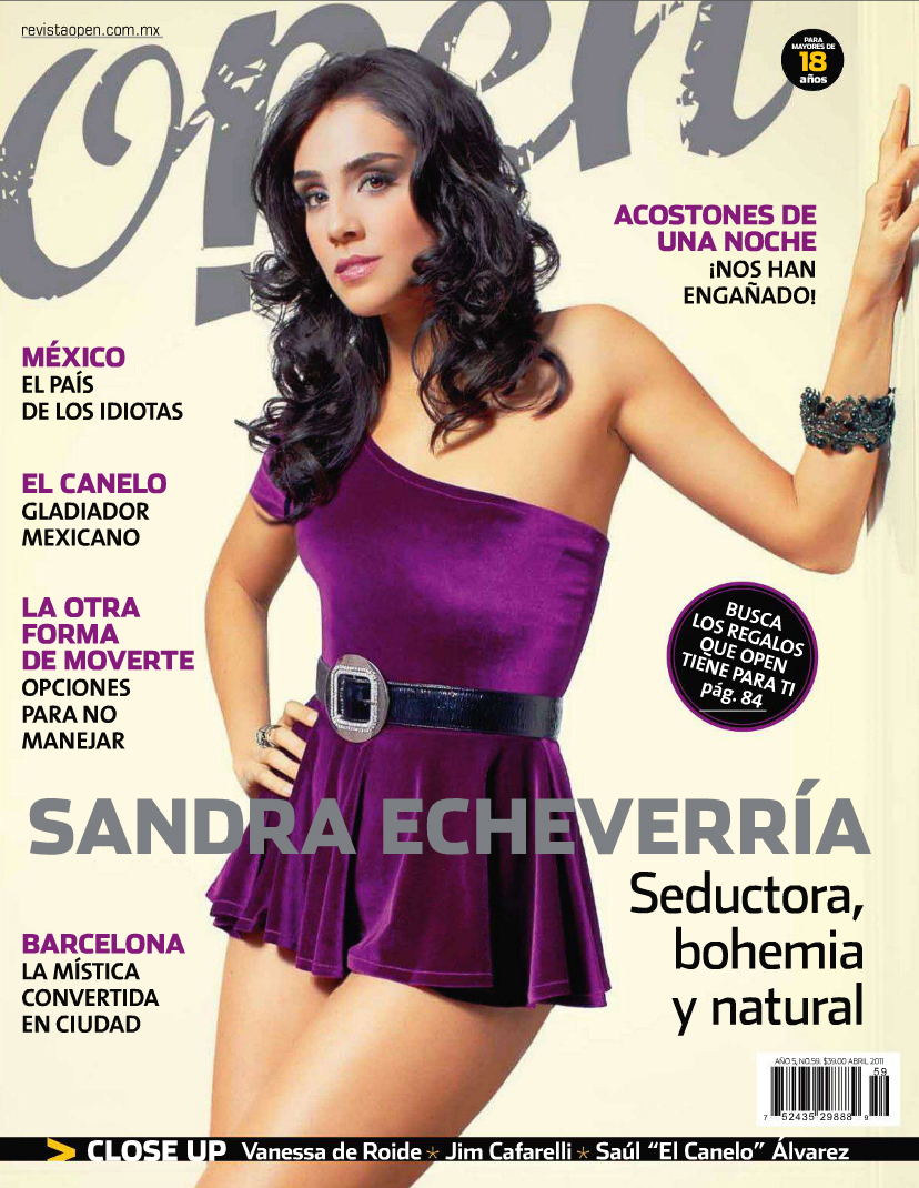 Sandra Echeverria Revista Open Abril 2011 01 pregnant barbie. go back