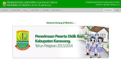 PPDB SMP KARAWANG 2013