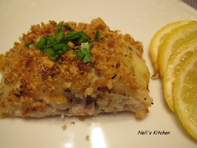 Baked Red Snapper with Pepper Jack Cheese