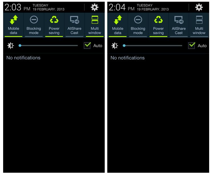 Samsung Galaxy S3 Notifications