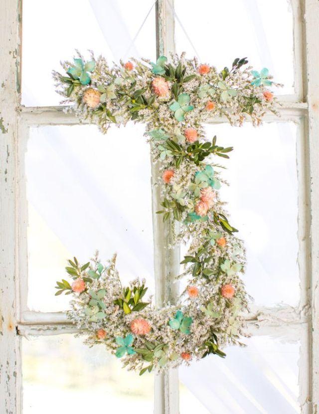 maxiletras letras iniciales flores tela hilo perlas hiedra madera boda fiesta