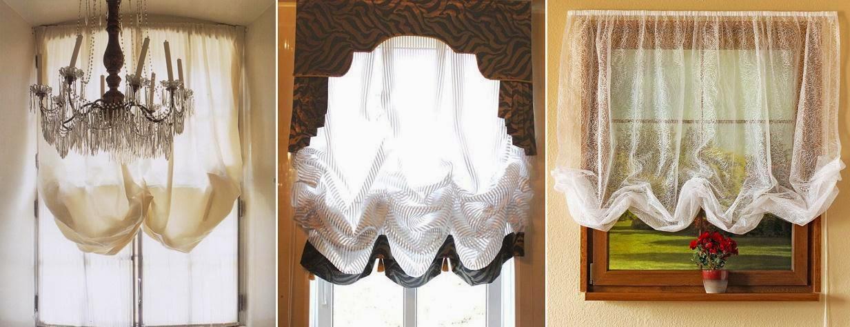 Austrian Blinds - light fabric