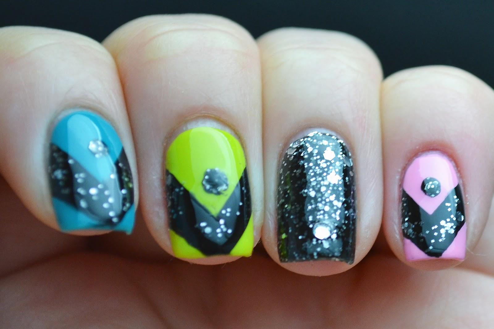 Glitter and Gloss Nails: OPI Nicki Minaj Chevron Stripe