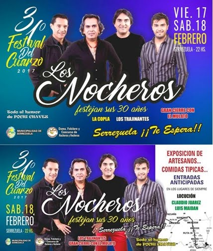 31º Festival del Cuarzo Serrezuela 2017
