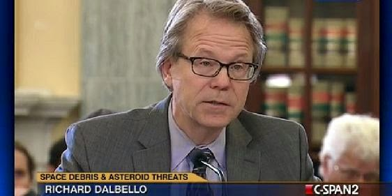 Richard DalBello testifying at the congressional hearing on space debris and asteroid threats on Mar. 20, 2013. Credit: C-SPAN