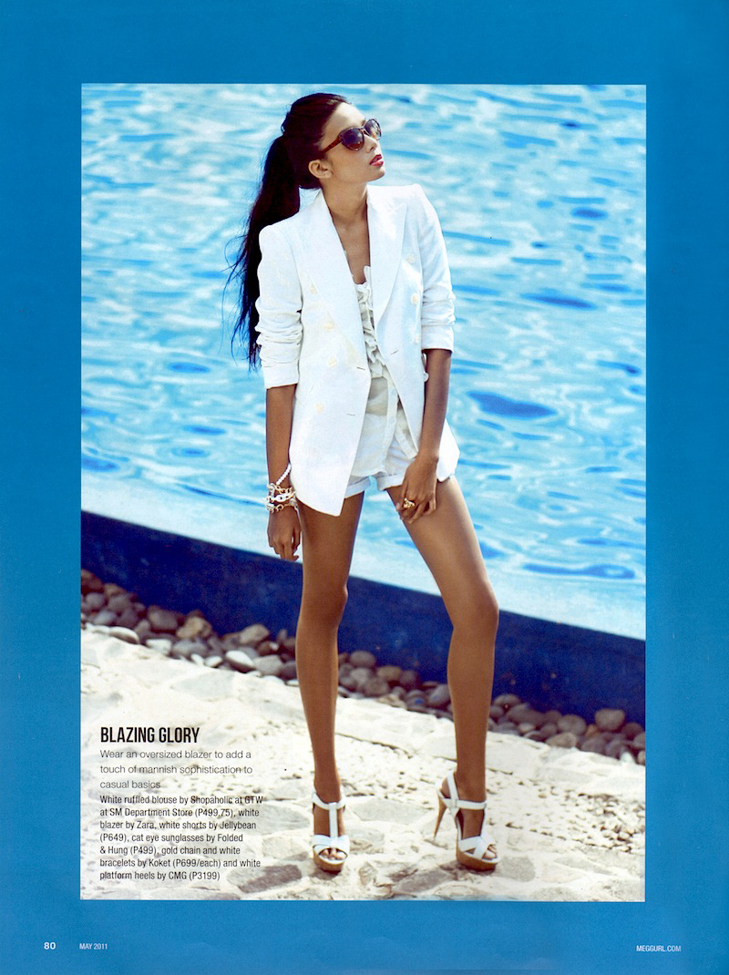 2011 winner Samantha Gomez in Editorial for Meg Magazine (May 2011