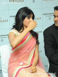 Samantha In Gorgeous Pink Saree Photos Pics