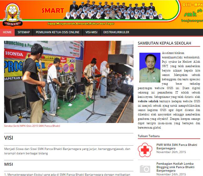 Website OSIS SMK Panca Bhakti Banjarnegara