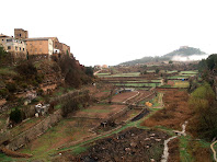 El Repeu i a la dreta el Castell des del Pont de la Via