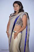 Actress Tanusha Photos in Saree at Present Love Audio-thumbnail-6