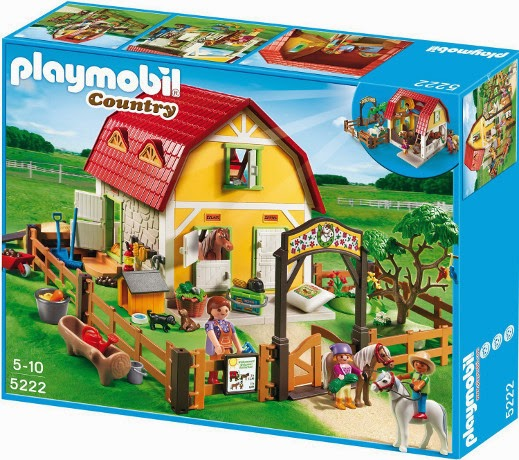 JUGUETES - PLAYMOBIL Country : Granja  5222 Rancho de Ponis Producto Oficial | Piezas: 230 | Edad: 4-10 años