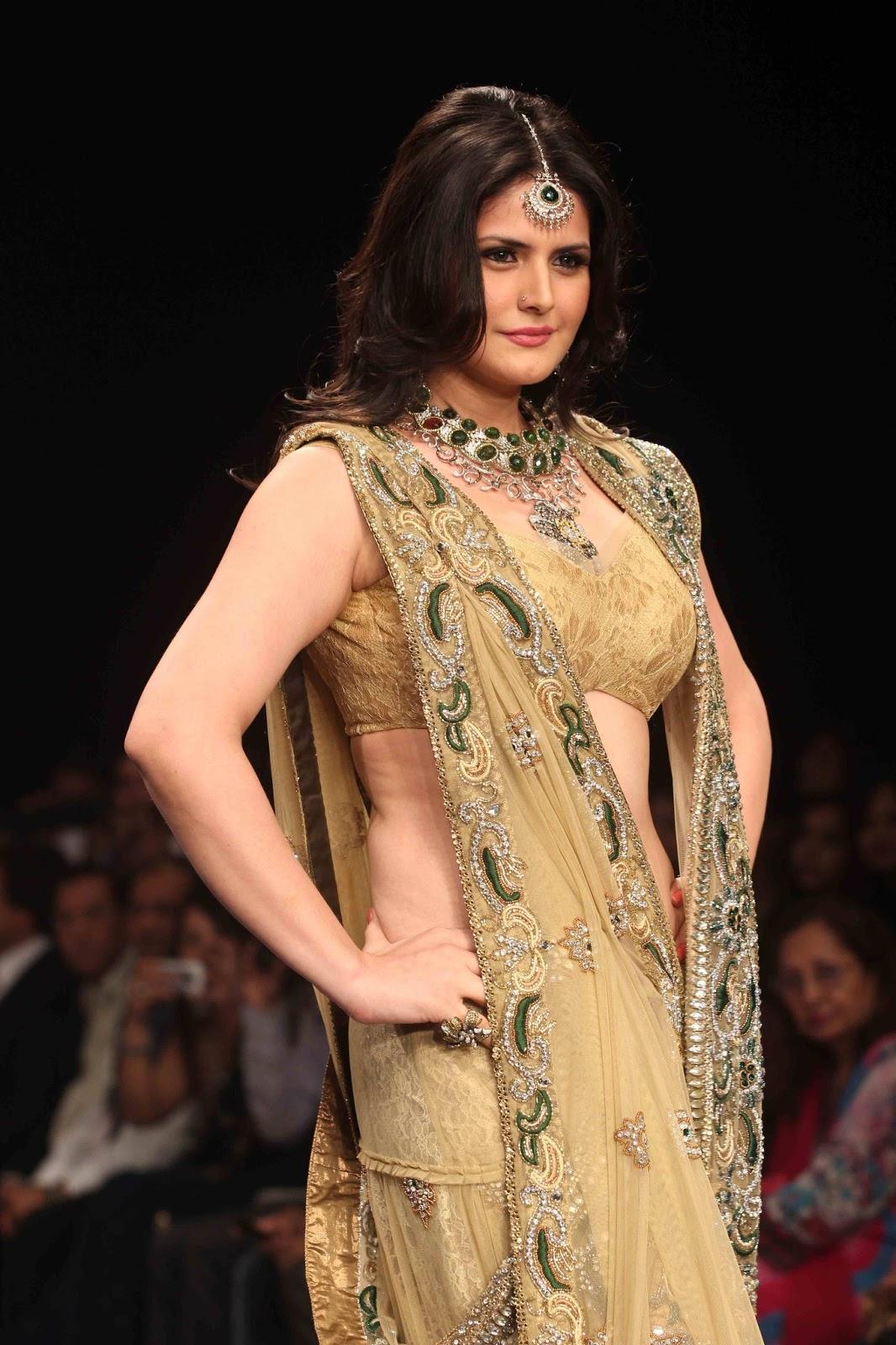 Glorious ornamental Zarine khan at iijw