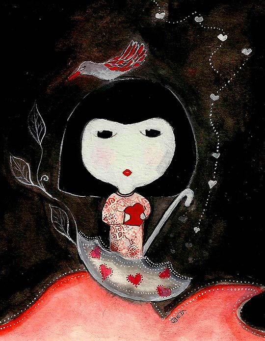 Ilustración en acrílico de Beatriz Blanca