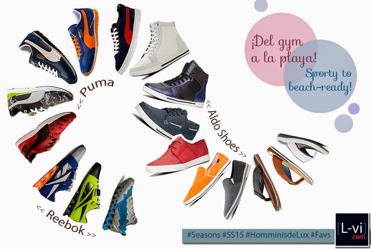 [Reebok, Puma, Aldo] SS15 Shoes for the gentlemen.  L-vi.com