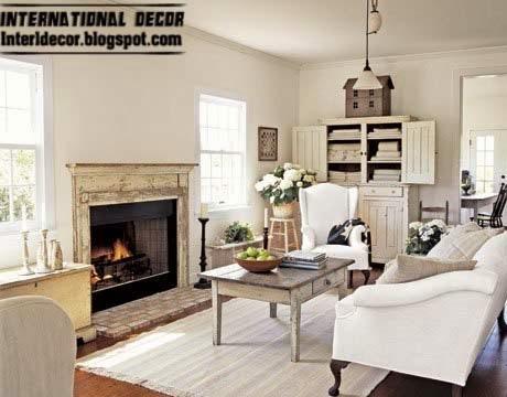 Provence style interior white design