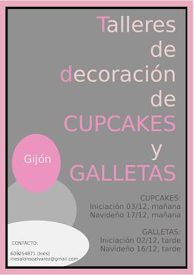 Tallleres de decoración de Cupcakes y Galletas en Asturias