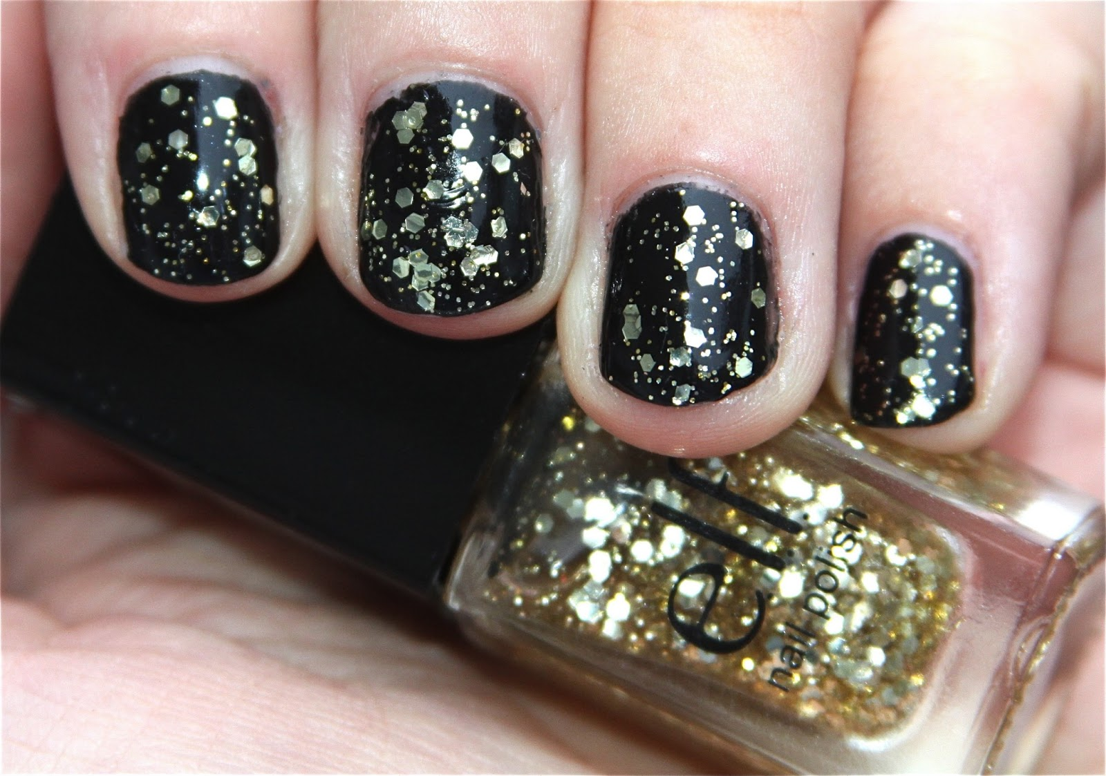 Elf Glitter Nail Polish Gold Star Cube