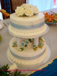 2 Tiers Wedding Cake (Buttercream)