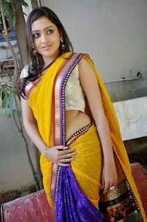Anjana New South Actress from movie Menu Naa Friends Super Cute in Saree
