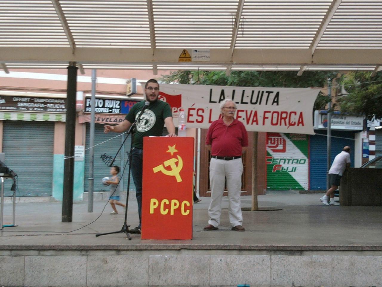 Mitin del PCPC y los JCPC el 11 de septiembre para la fiesta nacional de Cataluña Foto0168