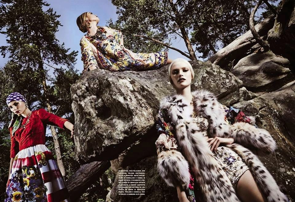Dolce & Gabbana Alta Moda FW14 by Steve Hiett for Vogue Italia, September 2014